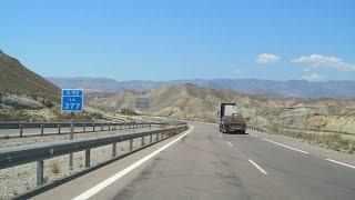 Spain: A-92 Tabernas - Almería (Tabernas Desert)