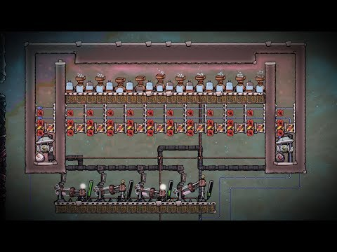 Hydrogen and Oxygen Power Plant Experiment! Oxygen Not Included