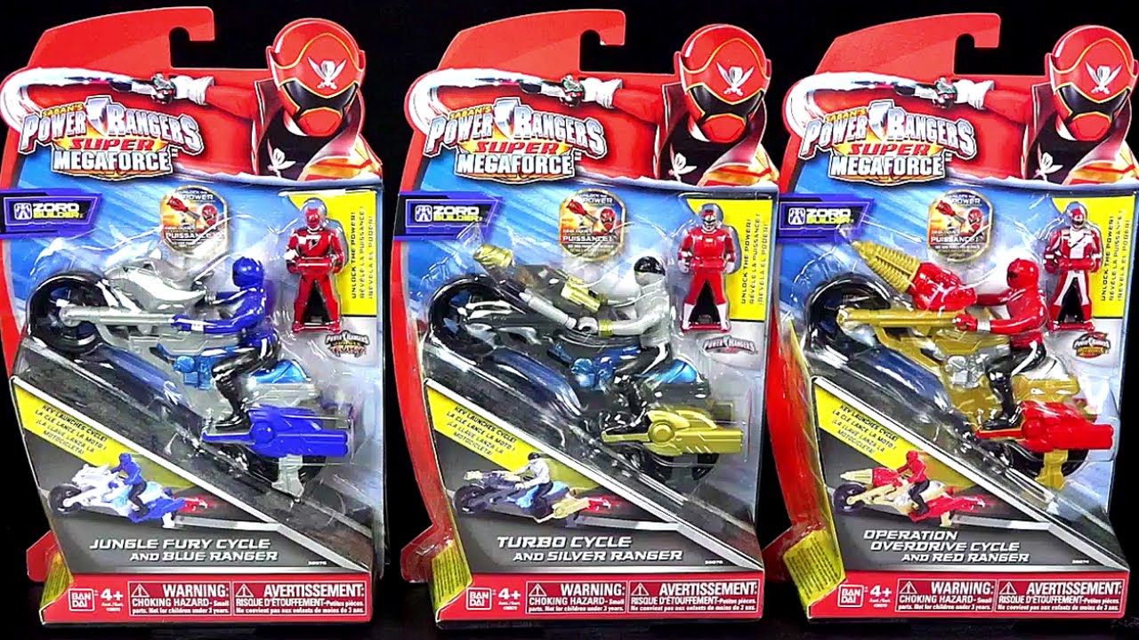 Power rangers super megaforce cycle review turbo jungle - Power rangers megaforce jungle fury ...