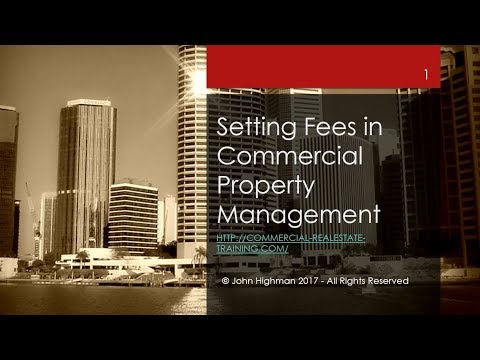 How to set fees in retail and commercial property management
