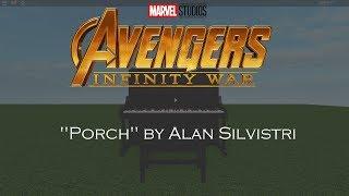 Avengers: Infinity War | Porch - Alan Silvestri | Roblox/virtual piano tutorial