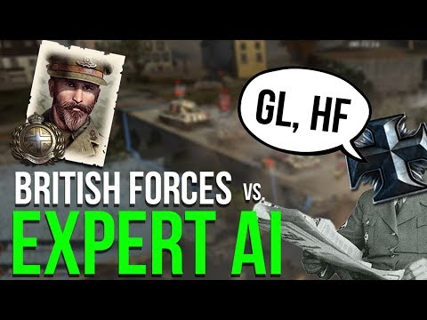 Can I Beat TWO EXPERT AI?   COMPANY OF HEROES 2   British Forces
