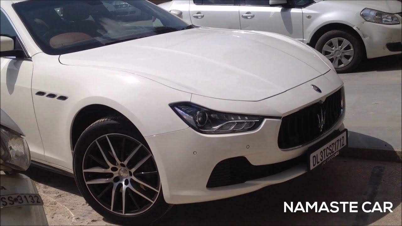 Maserati Ghibli Diesel 2014 | Walkaround | New Delhi - YouTube