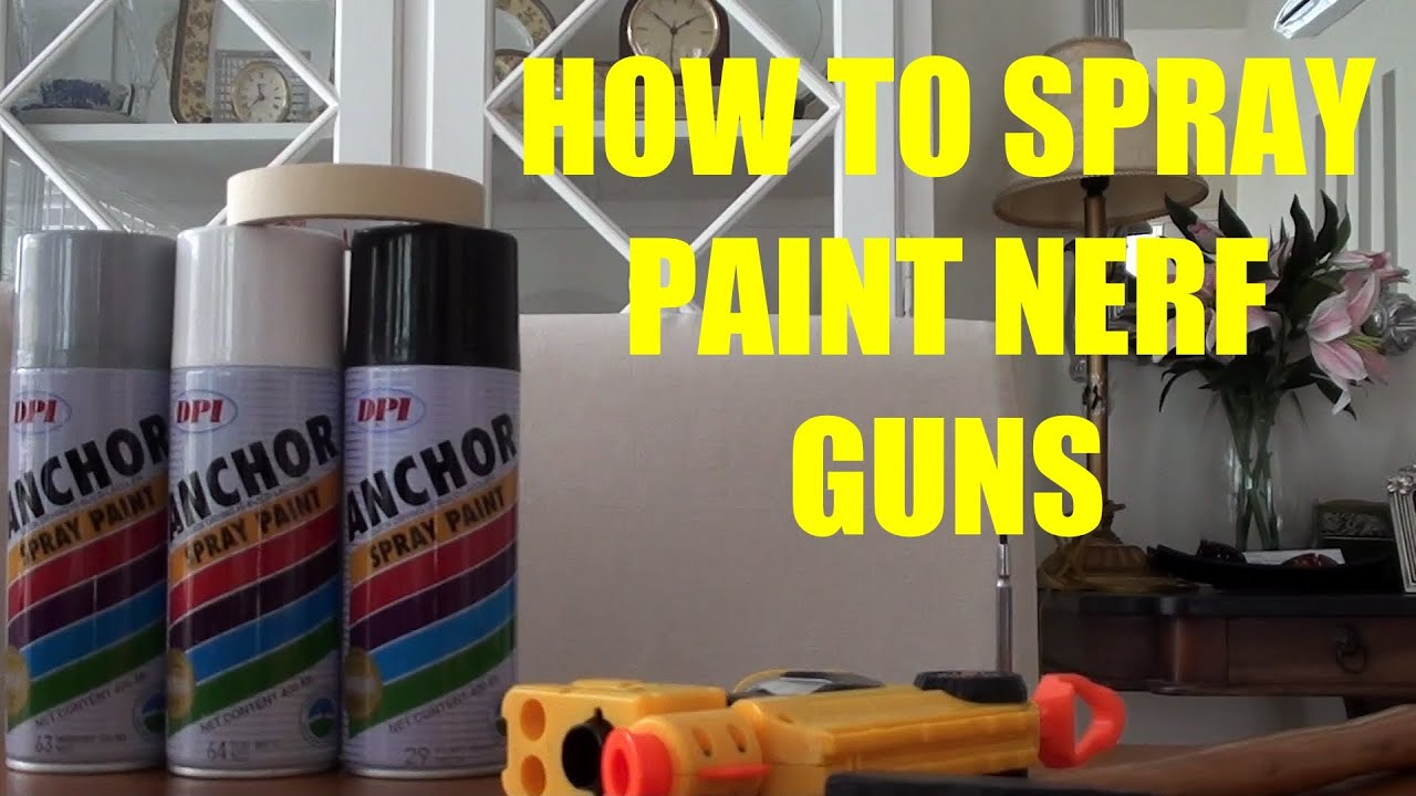 how to spray paint a nerf gun youtube. Black Bedroom Furniture Sets. Home Design Ideas