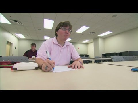 Students who face challenges of college with autism