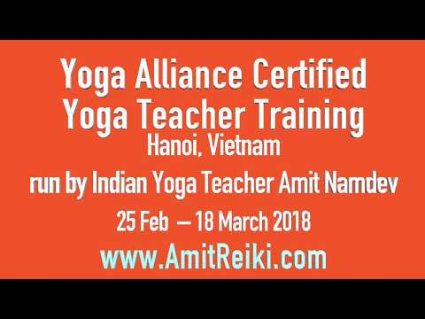 Yoga Teacher Training in Hanoi Vietnam - 25 Feb  – 18 March 2018