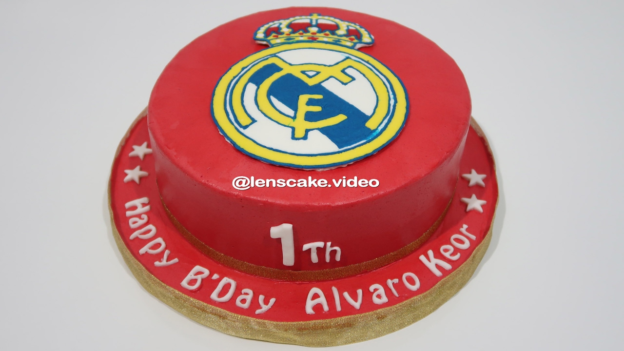 Birthday Cake Designs Real Madrid How To Make Easy Youtube