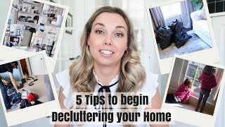 5 TIPS TO BEGIN DECLUTTERING | SUCCESSFUL, NOT OVERWHELMING | Nesting Story