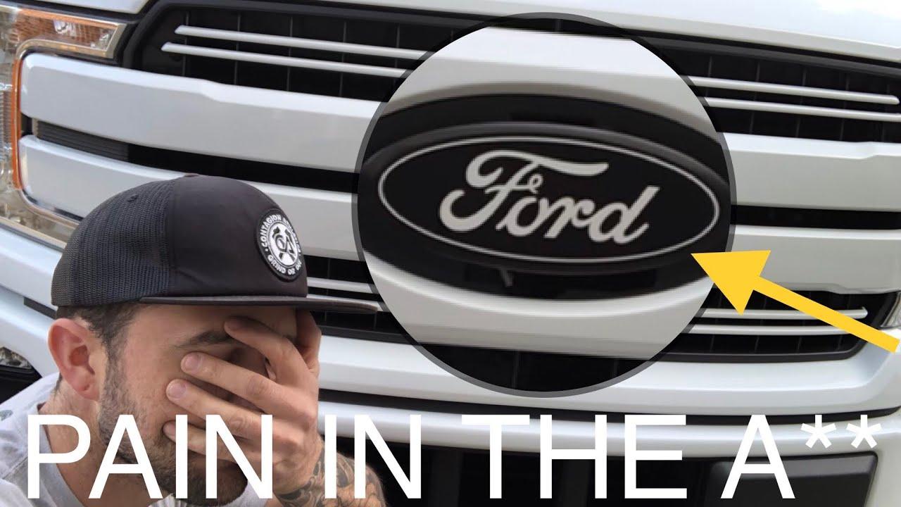 installing   ford   eco boost badges sucks putco youtube