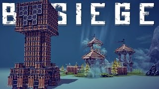 Besiege Alpha Gameplay - Amazing Besiege Creations - Minecraft Meets Besiege