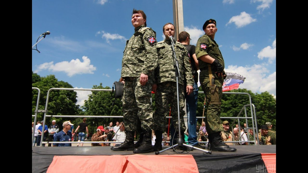В Донецке на площади Ленина прошел митинг неосталинистов и русских наци