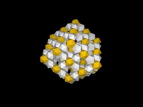 Rhombic dodecahedron lattice of icosahedra