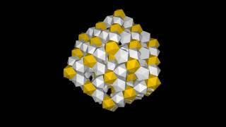 Rhombic dodecahedron lattice of icosahedra