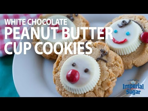 How To Make White Chocolate Peanut Butter Cup Christmas Cookies