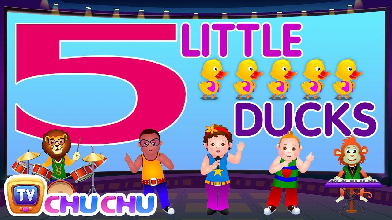 Five Little Ducks - Number Nursery Rhymes Karaoke Songs For Children | ChuChu TV Rock 'n'
