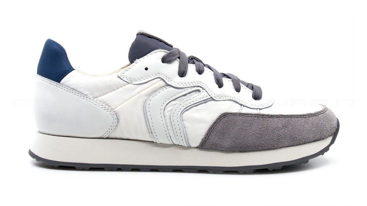 Geox Vincit sneakers in pelle e tessuto da uomo SKU  VINCIT-BIANCA ... 81565129d01