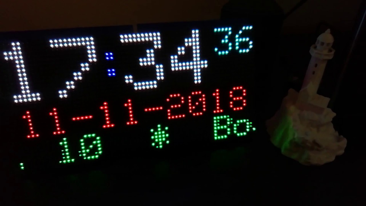 ESP32 Clock and Weather information