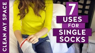 7 Uses for Single Socks! (Clean My Space)
