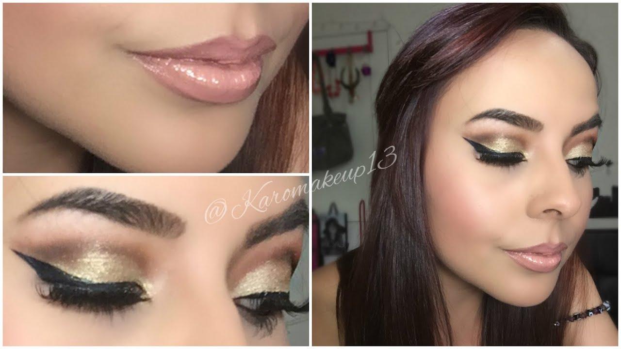 maquillaje dorado loreal
