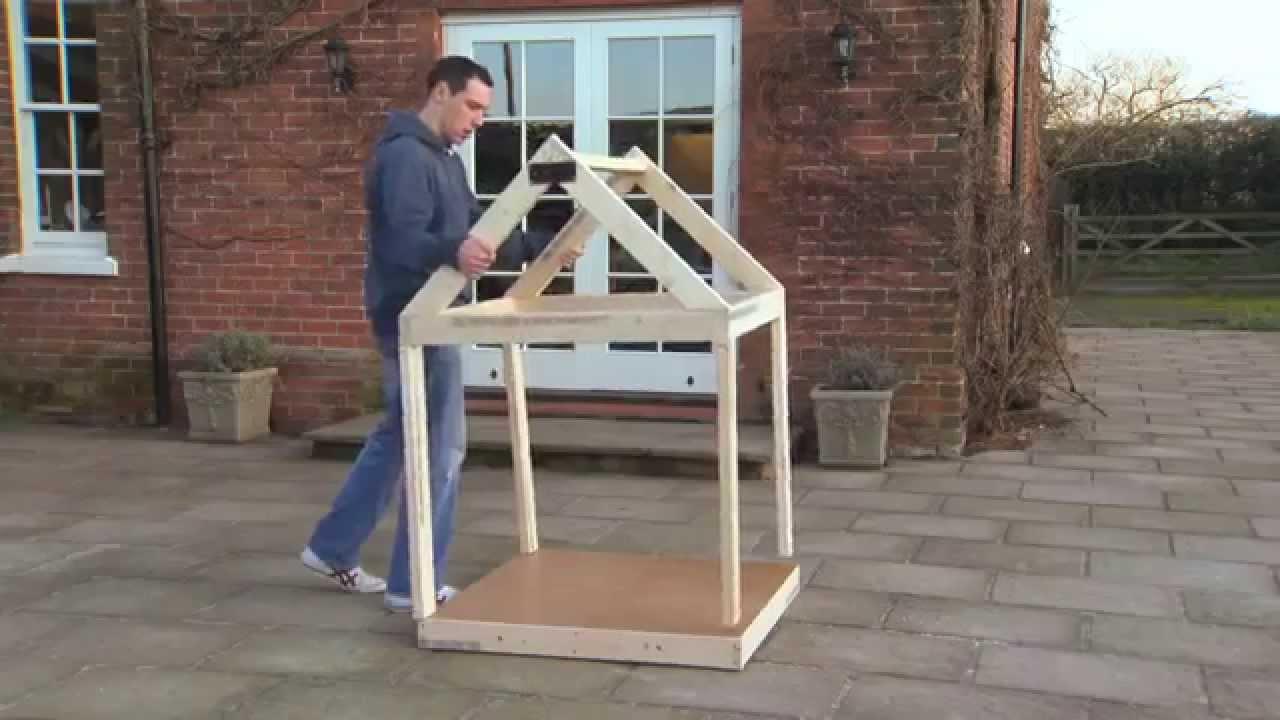 C mo hacer una caseta para tu perro youtube for Construir casa de perro