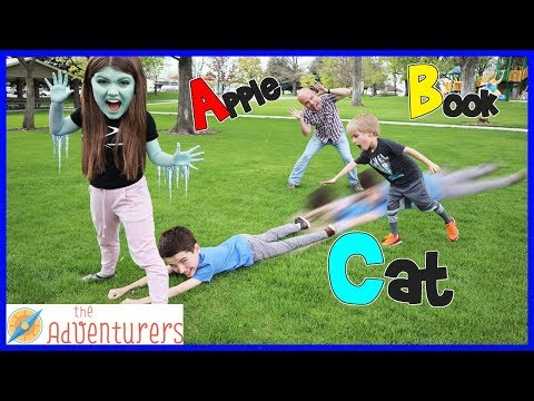 ABC Alphabet Freeze Tag Outdoor Activities And Games For Kids Playground Wars  That YouTub3 Family