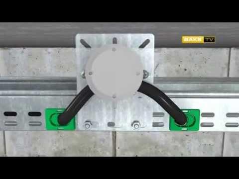 Инструкция. Монтаж кабельных лотков перфорация KO с прокладкой кабеля