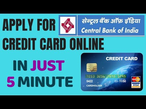Central bank of india credit card Apply | Apply central bank of india credit card online