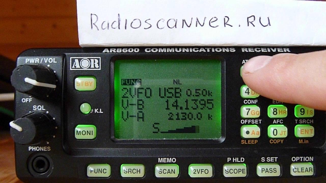 Aor ar8600 сканер инструкция