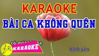 Bài Ca Không Quên Karaoke || Beat Chuẩn