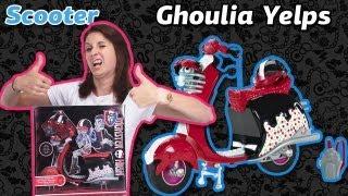 Обзор на Scooter Ghoulia Yelps Monster High (Скутер Гулии Школа Монстров) на Русском языке X3659