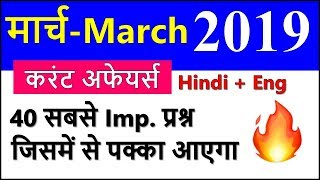 March 2019 Monthly Current Affairs with PDF in Hindi in