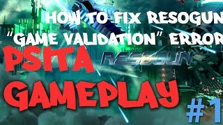 PSVITA Resogun HD Gameplay( fix Error-Unable to validate the full version of this game