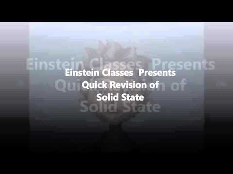 quick revision of solid state (chemistry)