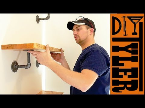 Iron Pipe Shelves DIY