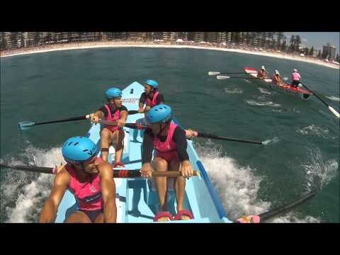 crazy wave manly carnival reserve surfboat, wave only. 23/01/15