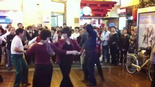 Ballroom dancing on Shanghai Nan Jing Rd