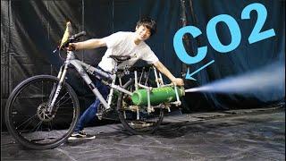 【自転車魔改造】CO2ガスボンベ付けたら衝撃の速さだったw