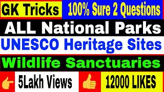 Tricks to Remember All 104National Parks of India in 1 Video |  Part -1