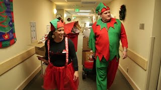 Mike & Kate as the Christmas Elves