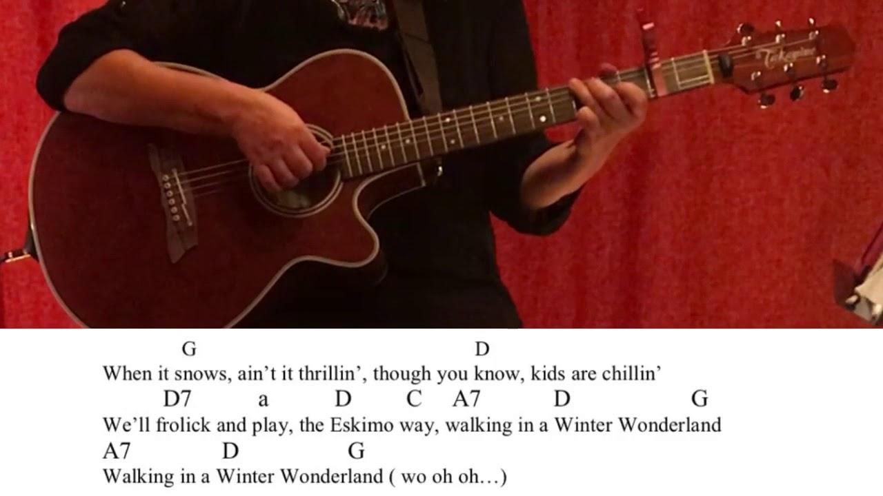 Winter Wonderland Guitartutorialcoverchordslyricseasy Youtube