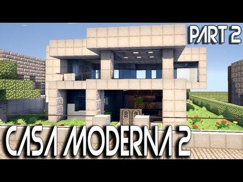 Tutorial minecraft casa moderna part 2 youtube for Casas modernas minecraft 0 10 0