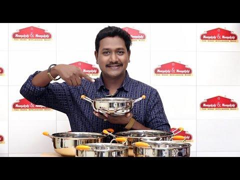 அடிபிடிக்காம Easya சமைக்க Steel Sandwich Heavy Bottom Kadai Meenakshi And Meenkashi