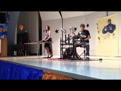 Emily and Rob performing at Morgan Fitzgerald Middle School Talent Show