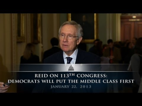 Reid On 113th Congress: Democrats Will Put The Middle Class First