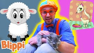 BLIPPI - Humane Society - Learn | ABC 123 Moonbug Kids | Fun Cartoons | Learning Rhymes