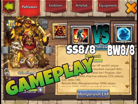 GAMEPLAY GRIMFIEND SKILL 12/12 Bw8 Ss8 | KONFLIK KASTIL | CASTLE CLASH ID