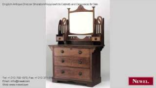 English Antique Dresser Sheraton/hepplewhite Cabinets And