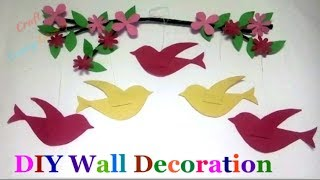 Diy Wall Art Sparrow wall Wall Decoration Idea   Best Out Of Waste-diy Room Decor   Diy Paper Craft