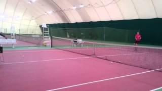 Тренировка тенниса в Минске. Разминка.