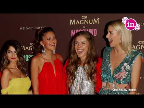 Magnum-Party in Cannes: Lena Gercke posiert mit YouTube-Stars